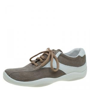 Prada Sport Two Tone Suede Sneakers Size 39.5