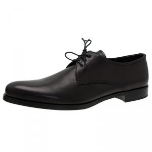 Prada Black Leather Lace Up Oxfords Size 45
