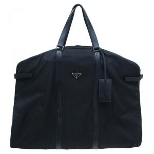 Prada Black Nylon Garment Carrier Bag Travel Suit