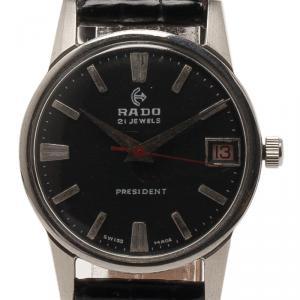 Rado Black Stainless Steel President Men's Wristwatch 30MM