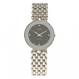 Rado Black Stainless Steel Florence Men's Wristwatch 33MM