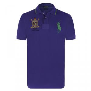 Polo Ralph Lauren Purple/Green Logo Polo Shirt M