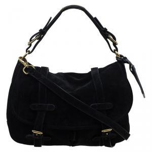 Ralph Lauren Black Suede Messenger Bag