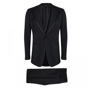 Roberto Cavalli Black Wool Tuxedo Suit L