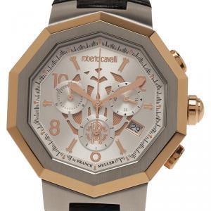 Roberto Cavalli Silver Stainless Steel RV1G003L0051 Men's Wristwatch 42MM