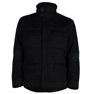 Saint Laurent Paris Black Quilted Jacket L