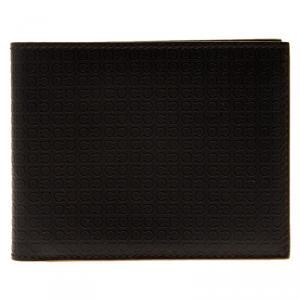 Salvatore Ferragamo Brown Gancio Embossed Bi-Fold Wallet