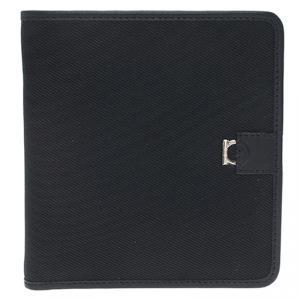 Salvatore Ferragamo Black Canvas Bi-Fold Wallet