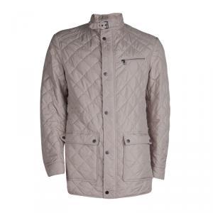 Salvatore Ferragamo Beige Quilted Jacket L