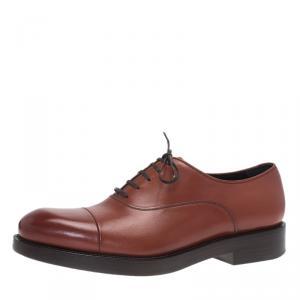 Salvatore Ferragamo Brown Leather Pride Oxfords Size 41.5