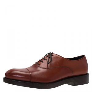 Salvatore Ferragamo Brown Leather Pride Oxfords Size 43