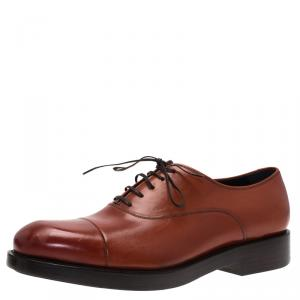 Salvatore Ferragamo Brown Leather Pride Oxfords Size 42.5