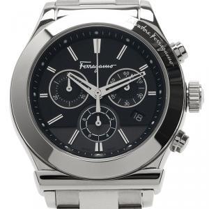 Salvatore Ferragamo Black Stainless Steel 1898 Men's Wristwatch 42MM