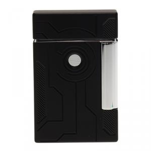 S.T. Dupont Black Lacquer Stainless Steel Classic Lighter