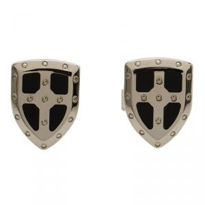 S.T. Dupont White Knight Limited Edition Lacquer & Palladium Finish Cufflinks