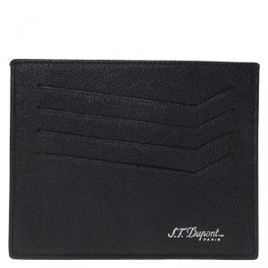S.T. Dupont Black Leather Card Holder