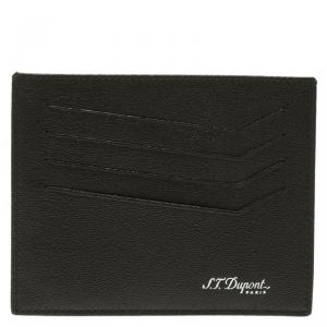 S.T. Dupont Black Leather Card Holder 4CC
