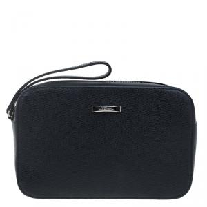 St Dupont Black Leather Pouch
