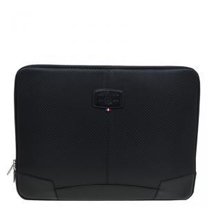S.T. Dupont Black Leather Carbone Laptop Case