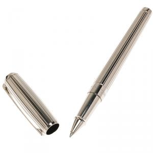 S.T. Dupont Silver Stainless Steel Classic Ballpoint Pen
