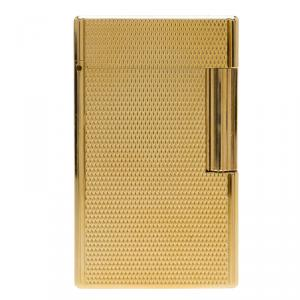 S.T. Dupont Fancy Textured Gold-Plated Classic Lighter