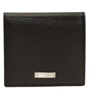 S.T. Dupont Brown Leather Bi Fold Wallet