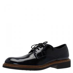 Tod's Denim Blue Leather Oxfords Size 41
