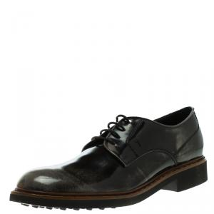 Tod's Black Leather Lace Up Derby Size 47