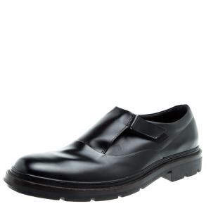 Tod's Black Leather Monk Strap Shoes Size 44.5