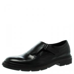 Tod's Black Leather Monk Strap Shoes Size 43