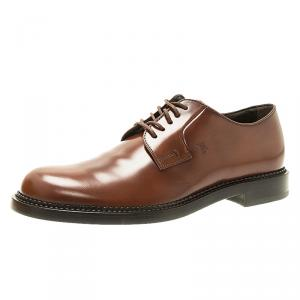 Tod's Brown Leather Lace Up Men's Derby Size 42