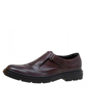 Tod's Brown Leather Monk Strap Shoes Size 42.5