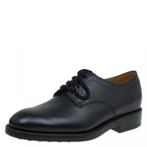 Tod's Black Leather Lace Up Oxfords Size 40