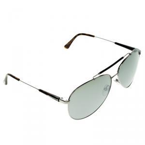 Tom Ford Silver TF 378 Rick Aviator Sunglasses