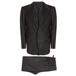 Tom Ford Dark Brown Wool Pant Suit L