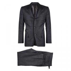 Tom Ford Grey Wool Checked Regular Fit Suit M