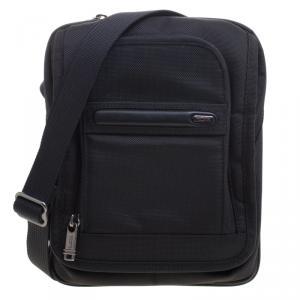 Tumi Black Nylon iPad Case Messenger Bag