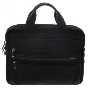 Tumi Black Nylon Expandable Portfolio Alpha Laptop Bag