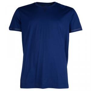 Z Zegna Blue Crew Neck T-Shirt XL