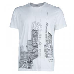 Z Zegna White Skyscraper Print Crewneck T-Shirt XL
