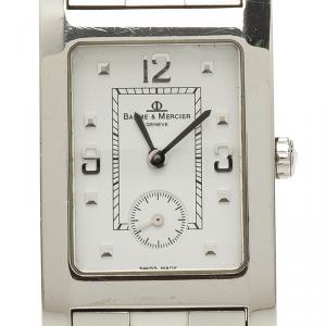 Baume & Mercier White Stainless Steel Hampton Men's Wristwatch 24MM