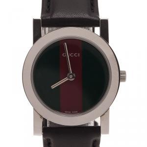 Gucci Logo Stainless Steel 5200 L Women's Wristwatch 27MM