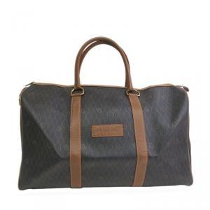 Dior Black / Brown Leather Duffel Bag