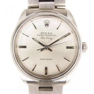 Rolex Silver Stainless Steel Air King Women's Wristwatch 34MM