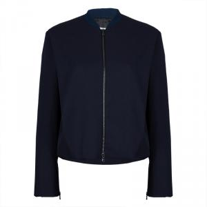 3.1 Phillip Lim Navy Blue Wool Bomber Jacket M