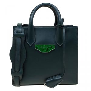 Balenciaga Dark Green Leather Mini All Afternoon Tote