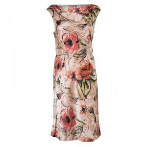 Alberta Ferretti Floral Print Silk Sleeveless Dress M