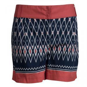 Alberta Ferretti Multicolor Printed Cotton Shorts M