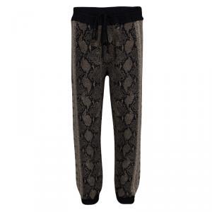 Alexander McQueen Snake Skin Pattern Jacquard Knit Jogger Pants S