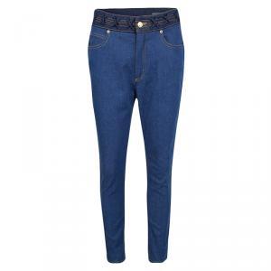 Alexander McQueen Indigo High Waist Straight Fit Denim Jeans M